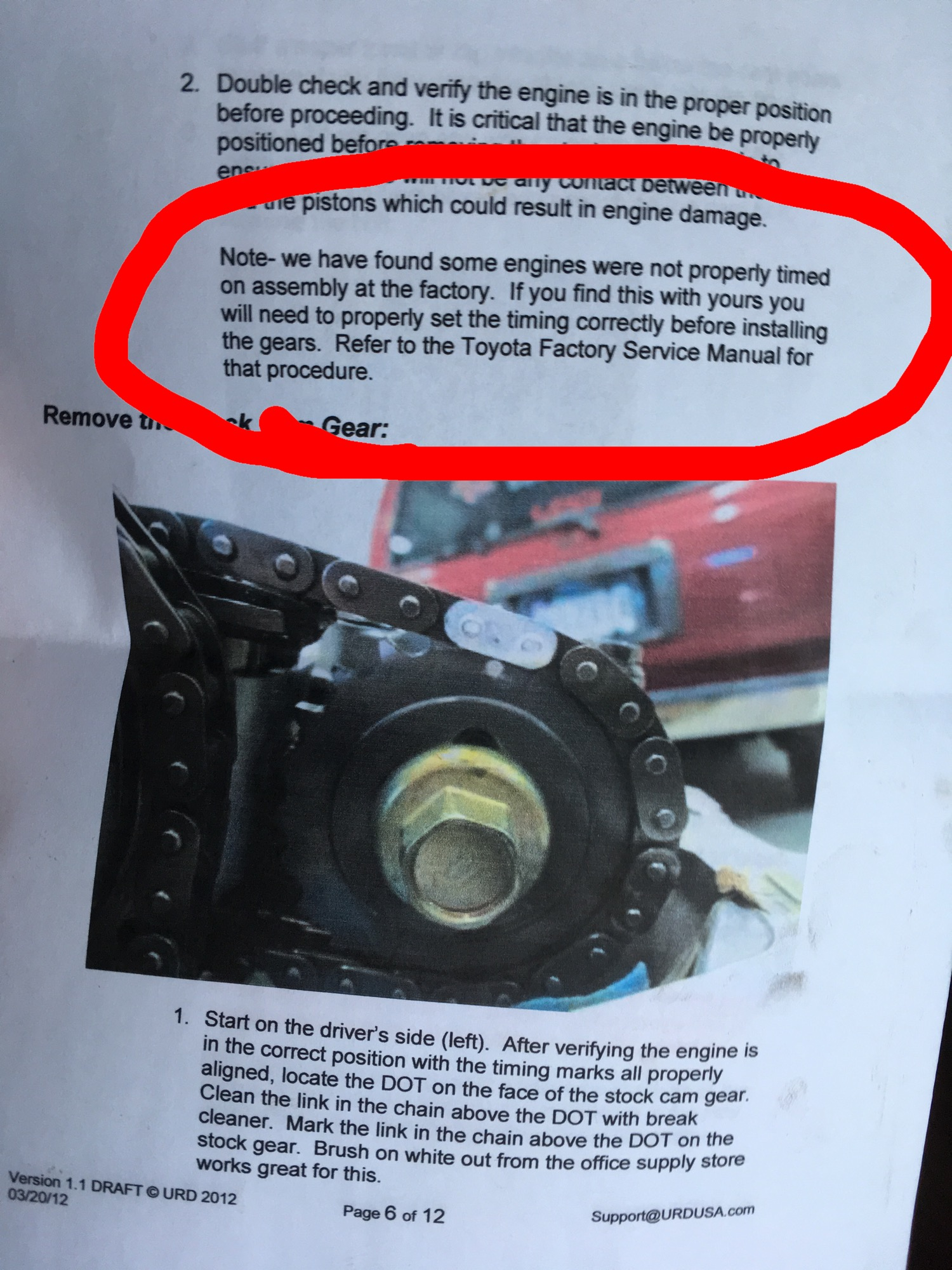 Timing Chain Cover Leak Fix Toyota Fj Cruiser Forum Engine Diagram I Just Read This From Urd Gear Installation Manual